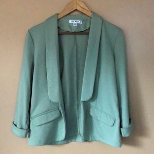 Sage green jersey blazer